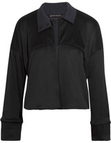 Live The Process Cropped Ribbed Stretch-supplex Jacket