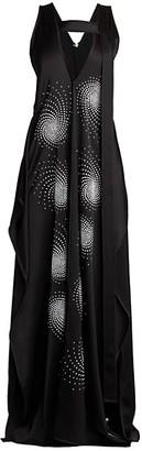 Stella McCartney Plunging Embellished Drape Dress