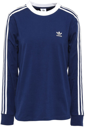 adidas Striped Stretch-cotton Jersey Top