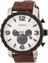 Fossil Men's Nate Chronograph Dial Brown Genuine Leather