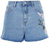 Glamorous **Floral Painted Denim Shorts