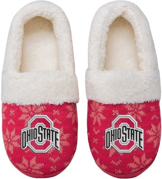 Women's Ohio State Buckeyes Ugly Knit Moccasin Slippers