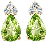 Tommaso design Studio Tommaso Design Pear Shape 7x5mm Genuine Peridot and Diamond Earrings 14k