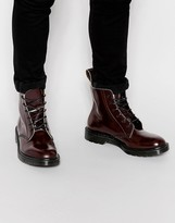 Dr Martens Made In England Arthur Boots - Red