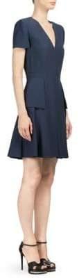 Alexander McQueen Wool Blend A-Line Dress