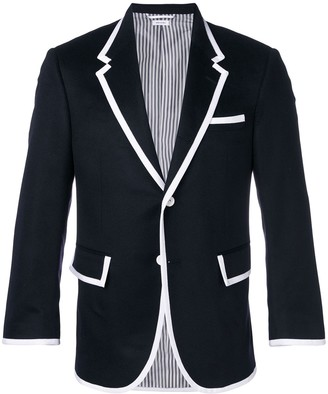 Thom Browne Contrasting Trim Single-Breasted Blazer