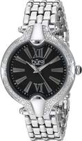 Burgi Women's Mother-of-Pearl Dial with Swarovski Crystal Accented Silver-Tone Bezel on Silver-Tone Stainless Steel Bracelet Watch BUR163SSBK