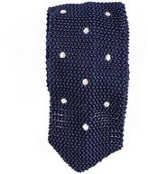 Black Framura Navy Polka Dot Knitted Silk Tie