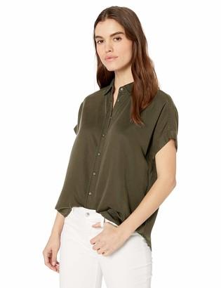 Daily Ritual Amazon Brand Women's Tencel Relaxed-Fit Short-Sleeve Shirt