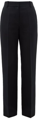 The Row Tacome Wool And Silk-blend Trousers - Womens - Black