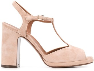 L'Autre Chose T-bar platform sandals