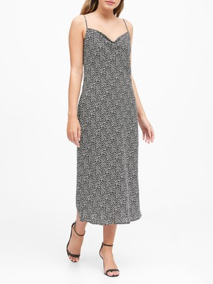 Banana Republic Petite Leopard Print Slip Dress