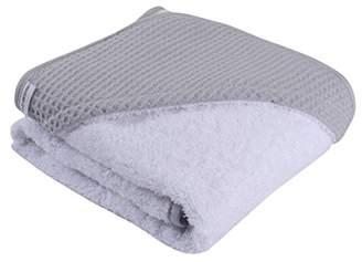 Clair De Lune Luxury Waffle Hooded Baby Towel - Grey