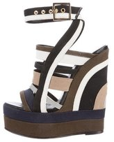 Pierre Hardy Woven Wedge Sandals