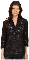 Christin Michaels Vienne Eyelet Top