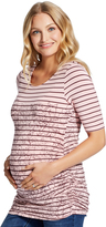 Motherhood Jessica Simpson Striped Floral Print Maternity Shirt