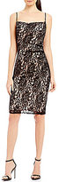 Laundry by Shelli Segal Shirred Lace Dress