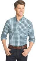 Izod Big & Tall Advantage Slim-Fit Checked Stretch Button-Down Shirt