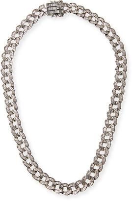 Fallon Baguette Curb-Chain Collar Necklace