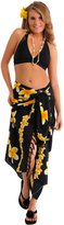 1 World Sarongs Womens Plumeria Swimsuit Cover-Up Sarong in