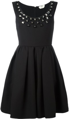 Fendi studded crepe dress