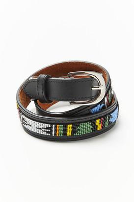 Beaded Western Leather Belt