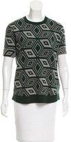 Dries Van Noten Diamond-Patterned Wool Top w/ Tags
