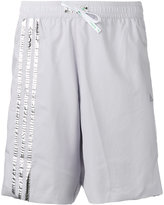 adidas metallic logo shorts - men - Polyester - S