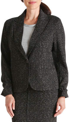 Peace of Cloth Brett 1-Button Ruched-Sleeve Jacket
