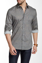 Perry Ellis Speckled Long Sleeve Regular Fit Shirt
