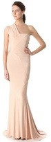 Donna Karan One Shoulder Evening Gown