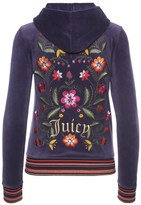 Juicy Couture Logo Velour Garden Embroidery Robertson Jacket