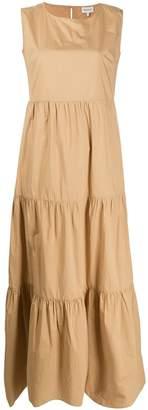 Woolrich Poplin Tiered Maxi Dress