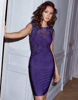 Lipsy Love Michelle Keegan Ruched Sequin Detail Bodycon Dress