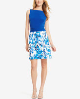 American Living Floral-Print Sateen Skirt Dress