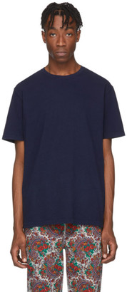 Noah NYC Navy Recycled Cotton T-Shirt