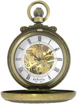 Dakota Men's Mechanical Gold Dress Dual Cover Pocket Watch 32807