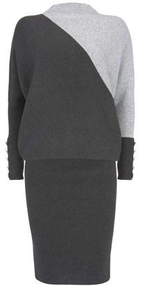 Mint Velvet Grey Blocked Jumper Dress