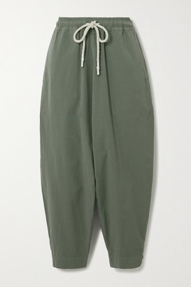Bassike Net Sustain Cotton Track Pants - Gray green