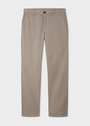 Paul Smith Men's Tapered-Fit Taupe Stretch-Cotton Chinos