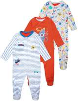 Mothercare BOYS HANGING SLEEPSUIT COLOUR ME IN BABY 3 PACK Pyjama set brights multicolor