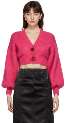 ATTICO Pink Mohair Cardigan