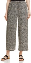 Eileen Fisher Dot Print Wide Leg Crop Pants