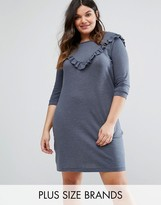 Junarose Ruffle Detail Sweat Dress