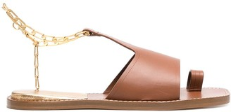 Sandro Chain Strap Toe-Ring Sandals
