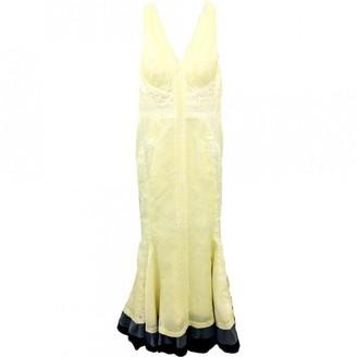 J. Mendel J.Mendel J.mendel Yellow Silk Dresses