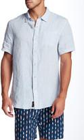 Jachs Linen Chambray Short Sleeve Classic Fit Shirt