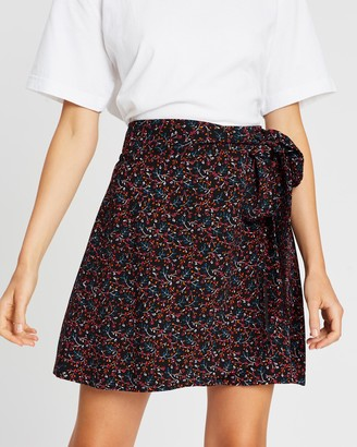 Whistles Starflower Wrap Skirt