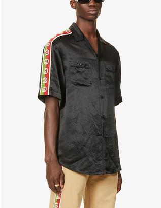 Gucci Logo-tape crepe shirt