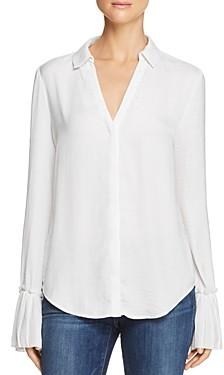 Paige Abriana Pleated-Cuff Shirt